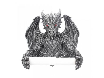 Gothic Dragon Toilet Roll Holder